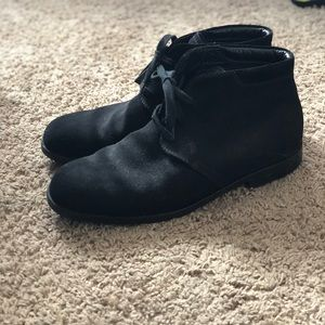 Tod's black suede ankle boots